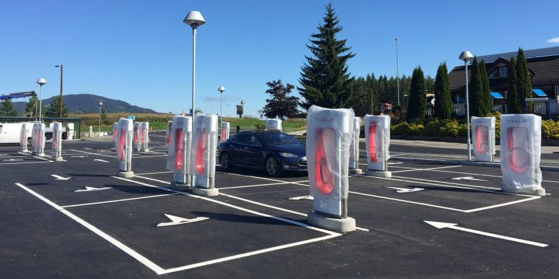 First look at Tesla's new Supercharger layout concept