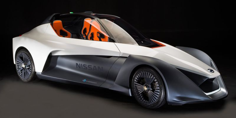 Nissan hopes to turn heads with 268HP EV BladeGlider prototype w/McLaren F1-type seating