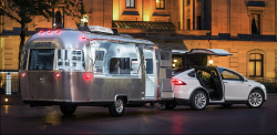 Tesla announces new 'mobile design studios' using Airstream trailers towed by the Model X