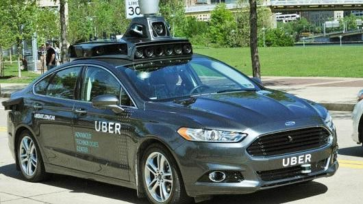 Uber self-driving cars spotted on San Francisco's hilly roads