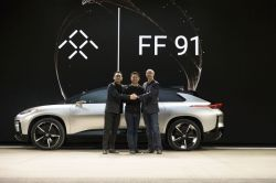 Faraday Future unveils FF91 at CES 2017, with YT Jia