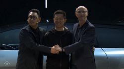 Faraday Future's leaders are on the stage with FF91