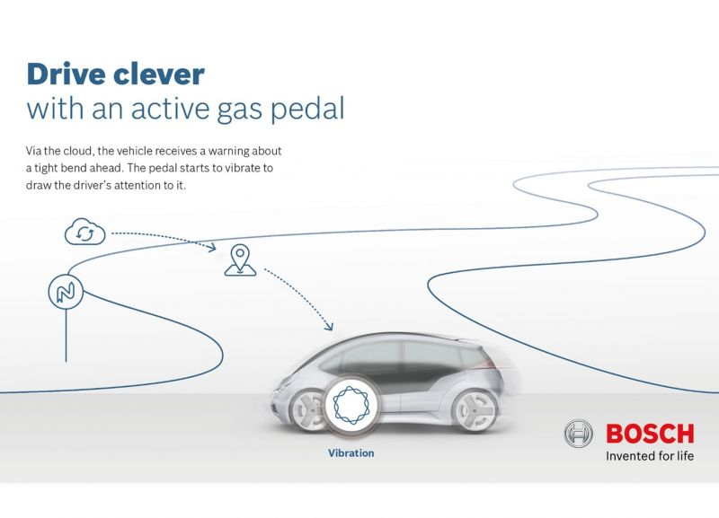 Bosch's Haptic Pedal Can Help Drivers Save At The Pumps