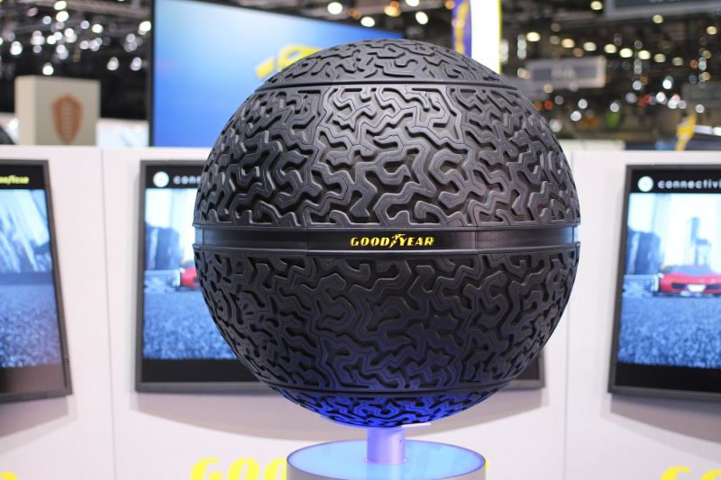 Goodyear Aims to Disrupt the Wheel with a Smart, Spherical Tire