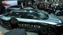 Lucid displays its 217 mph Air Alpha Speed Car at the New York Auto Show