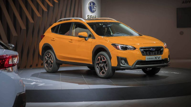Subaru shows off the new 2018 Crosstrek at the New York Auto Show