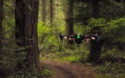 NVIDIA Drone Flies Through the Woods Using AI Instead of GPS