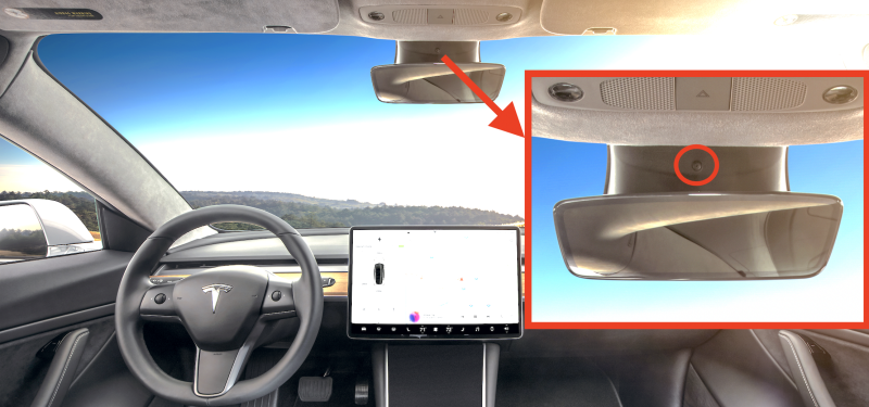 Hidden Driver-Facing Camera is Found in the Tesla Model 3