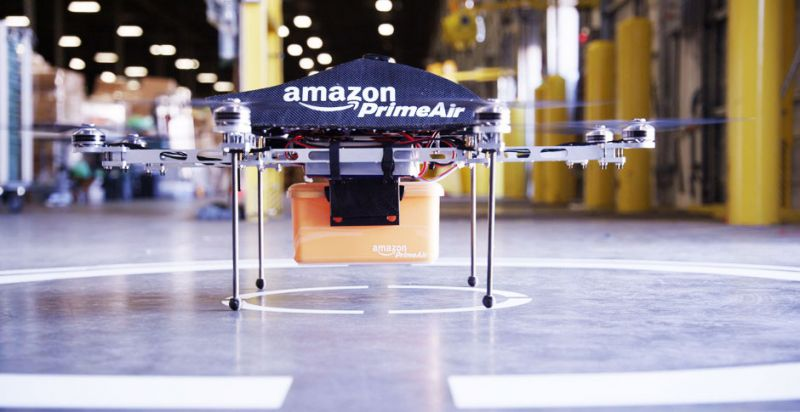 Amazon Files Patent to Charge EVs on the Road with Drones
