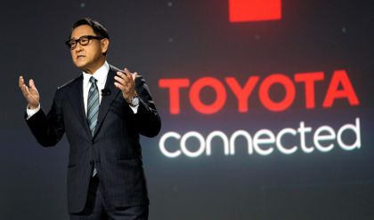 Toyota President Akio Toyoda's Announces e-Palette Mobility Platform at CES