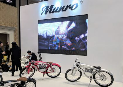 Munro Motor Displays its Retro-Styled E-Bike at CES