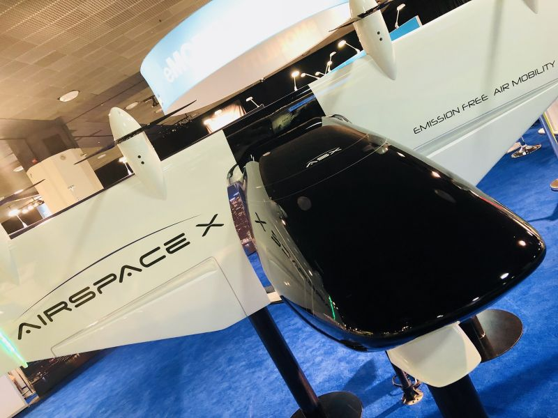 AirSpaceX Reveals Electric VTOL Aircraft at North American International Auto Show