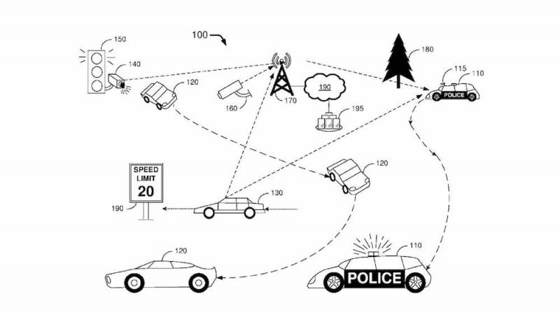 Ford Files Patent for Autonomous Police Car That Can Remotely Issue Tickets