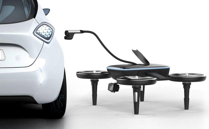 Can Aerial Drone Charging Replace EV Charging Stations?