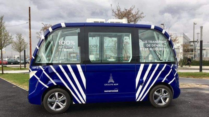 Groupe ADP Trials Driverless Buses at Charles de Gaulle Airport