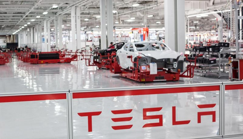 Tesla Model 3 electric vehicle production halted