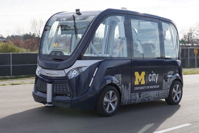 Autonomous Electric Shuttles to Begin Service in Ann Arbor