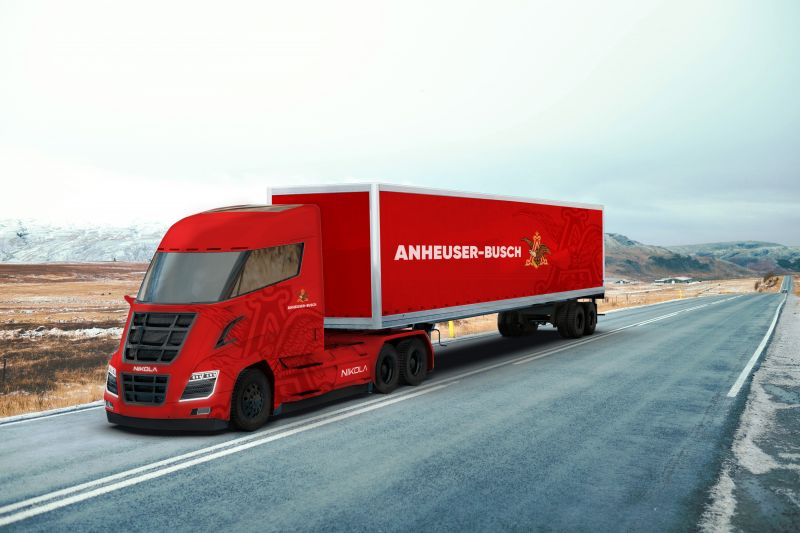 Anheuser-Busch Orders 800 Hydrogen-Electric Powered Semi-Trucks From Nikola Motor Company