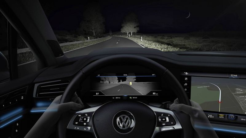 VW Reveals Its Thermal Imaging Camera Interface For 2019 Touareg SUV