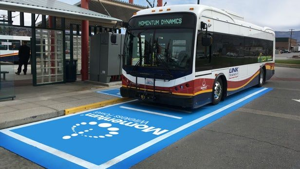The First Ever Wireless Fast Charging Bus Station in America Breaks Cover