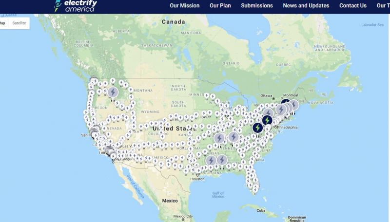 VW's Electrify America Reveals Nationwide Charging Station Map