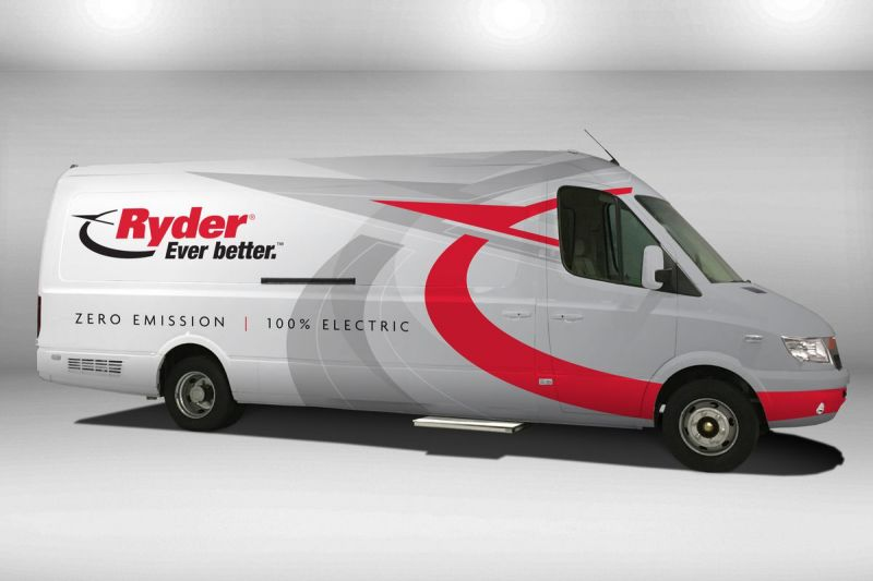 Ryder Rental Truck Company Commits to 500 Electric Vans