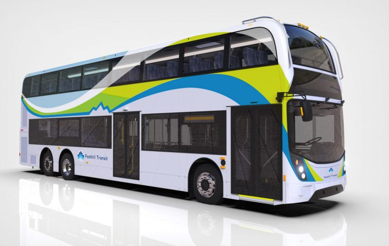 Double-Decker Electric Bus to Debut in California