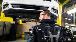 Ford Assembly Workers Don Exoskeleton Suits to Lessen Fatigue & Prevent Injuries