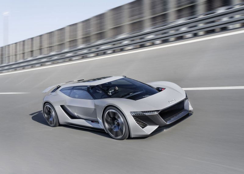 Audi Debuts Ultra-fast All-Electric Supercar in Monterey California