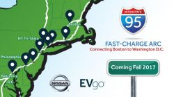 Nissan & EVgo Open 'I-95 Fast Charging ARC' Connecting Boston and Washington DC