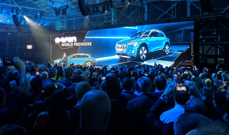 Audi Unveils its Electric e-tron SUV at World Premier Event in San Francisco