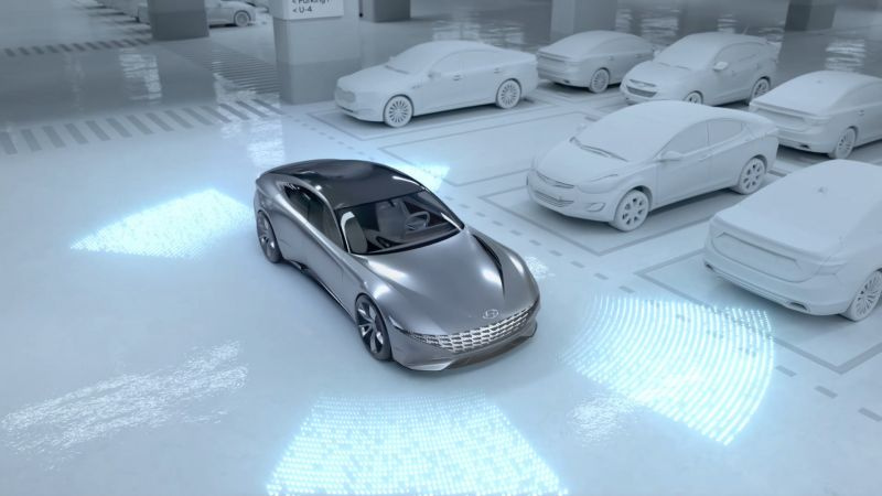 Hyundai Reveals a Unique EV Charging and Automated Parking System