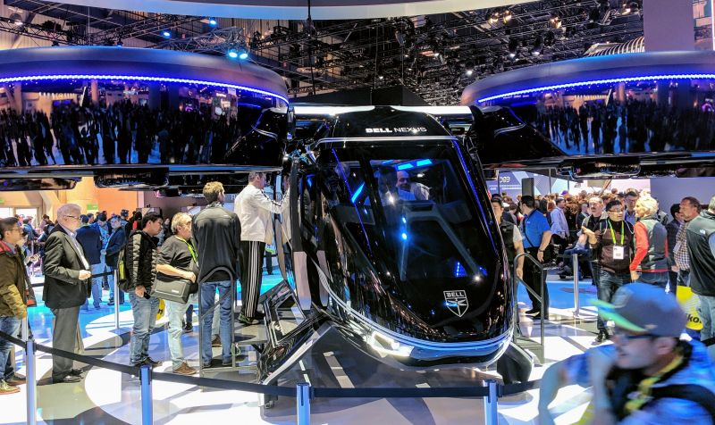 Highlights From This Week's CES 2019: Bell Unveils Flying Air Taxi Concept that Might Become a Flying Uber, World Premier of the Electric Mercedes Benz EQC