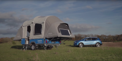 Nissan Envisions Old Leaf EV Batteries Powering Camping Trips