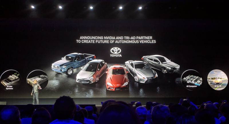 NVIDIA to Partner with Toyota Research Institute AD to Develop Self-Driving Vehicles