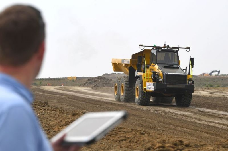 Highways England Tests Autonomous Trucks for Road Construction