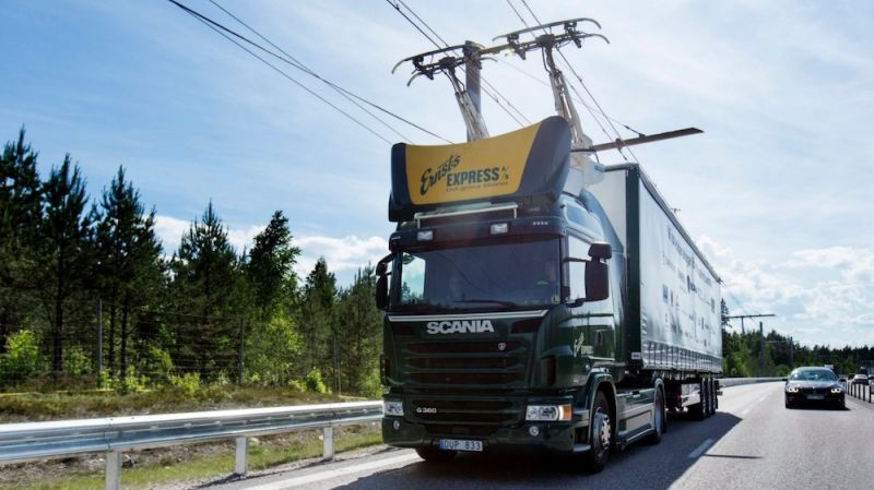 Germany Opens First Electric Highway to Charge Hybrid Semi-Trucks