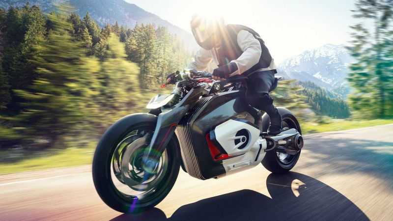 BMW's Electric Roadster Concept Motorcycle Features the Company's Iconic Boxer Engine Profile