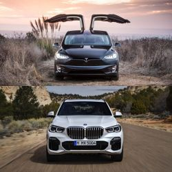 Quick Comparison: Long Range Tesla Model X vs. the BMW X5 50i