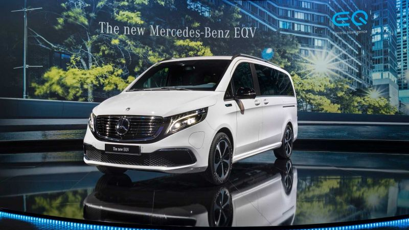 Mercedes-Benz Unveils the Production Version of its 252-mile EQV Electric Minivan
