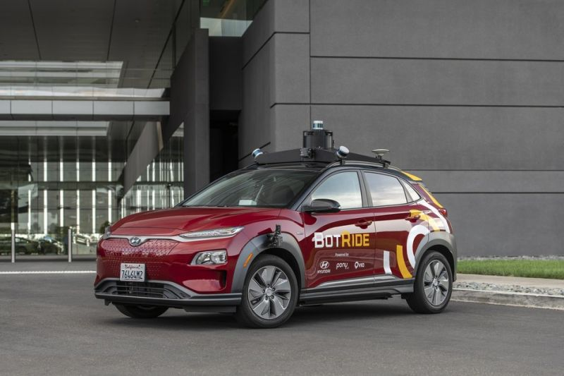 Hyundai Launches 'BotRide' Autonomous SUVs in California with Pony.ai & Via