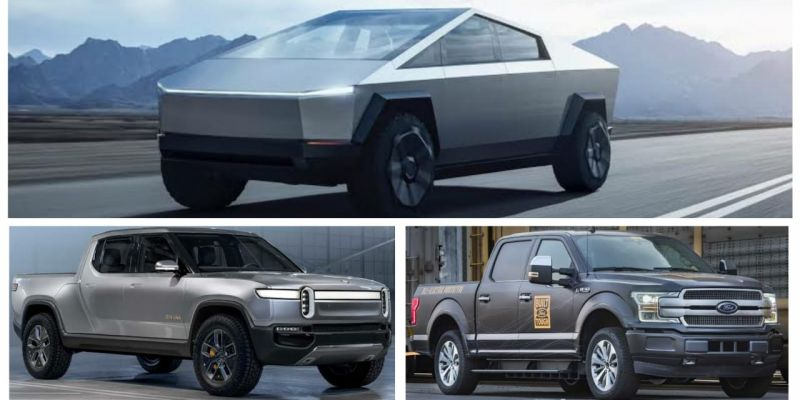 Quick Comparison: Tesla Cybertruck vs Ford F-150 Electric vs Rivian's R1T