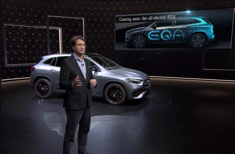 The Mercedes Benz EQA Electric Crossover Teased for the First Time Ahead of its 2020 Unveil