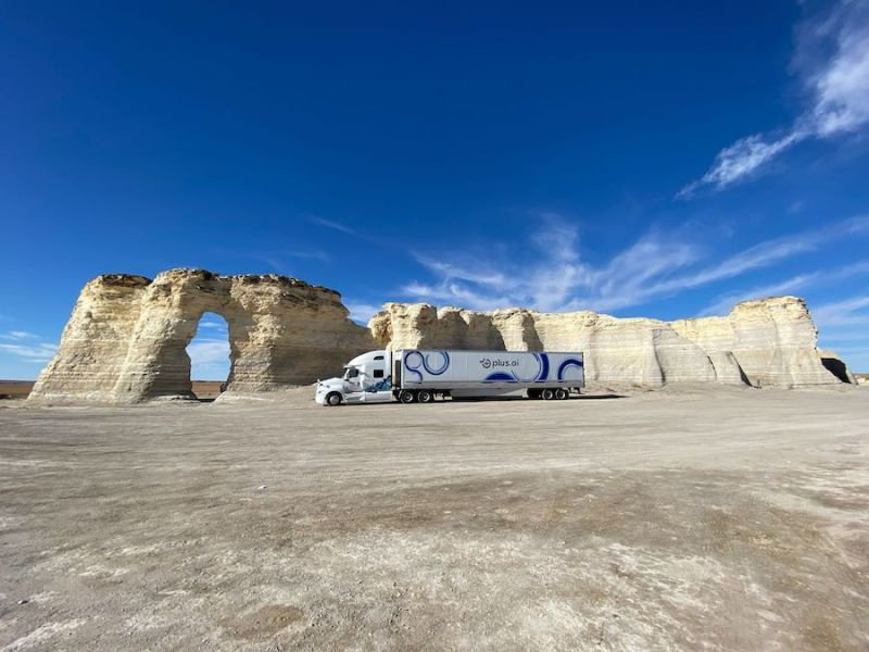 Self-Driving Semi-Truck With Plus.ai Technology Completes First Coast-To-Coast Trip