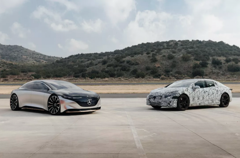 Mercedes-Benz Testing Production Version of EQS in California