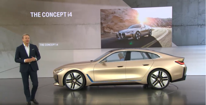BMW Reveals its Fully-Electric 530 HP Concept i4 Sedan, the First of Many New Electrified Models