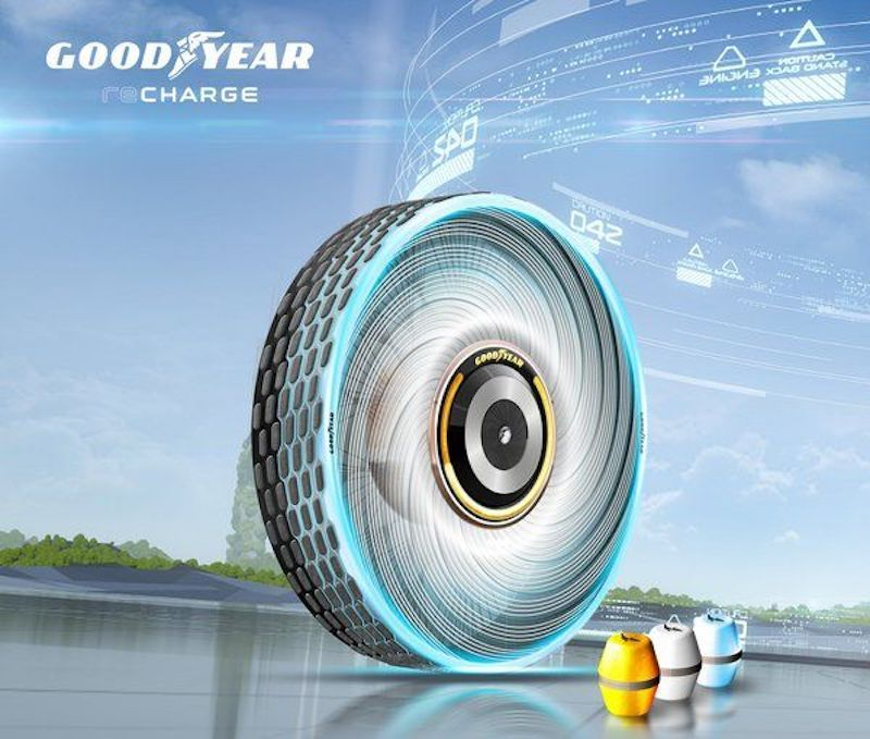 Goodyear's Latest Tire Concept is Capable of Regenerating New Tread