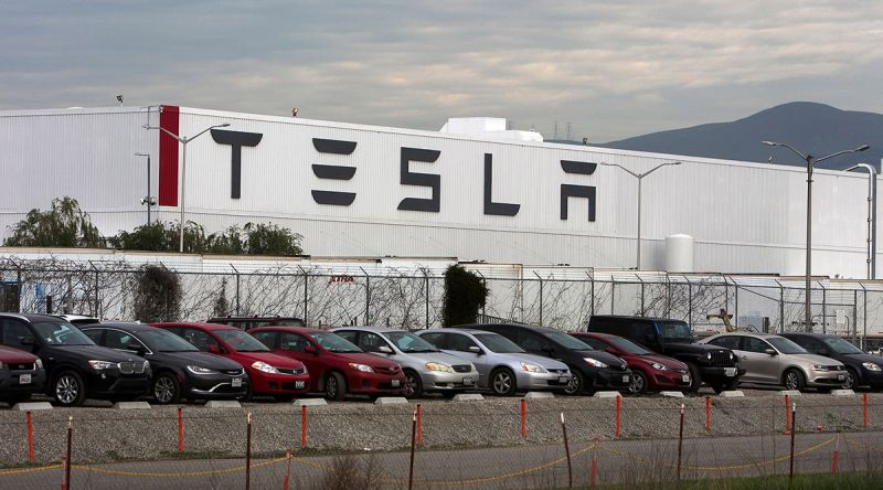 Electric Automaker Tesla is Forced to Reduce its Workforce By 75% at its Fremont, California Factory