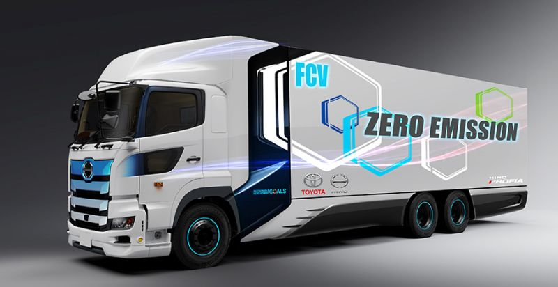 Toyota is Developing a Hydrogen-Powered Fuel Cell Truck With its Hino Motors Unit