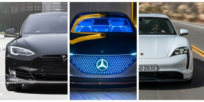 Quick Comparison: The Mercedes-Benz EQS vs the Tesla Model S and Porsche Taycan